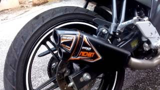 Nobi Titan Exhaust on yamaha fz150i (with silencer