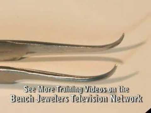 Jewelers Tools - Curved Tip Melee Tweezers
