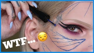 ROLLER WHEEL EYELINER… TRYING WEIRD MAKEUP | Jeffree Star