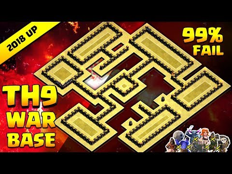 Clash of Clans TH9 War Base | 99% Fail | EPIC Anti 3S | Anti All Combo