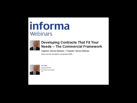 Webinar: Developing Contracts That Fit Your Needs: The Comme