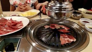 """Жарим мясо в кафе """"Корея"""""""