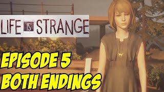 Life is Strange Episode 5 Both Endings All Sacrifice Chloe & Save Arcadia Bay Polarized