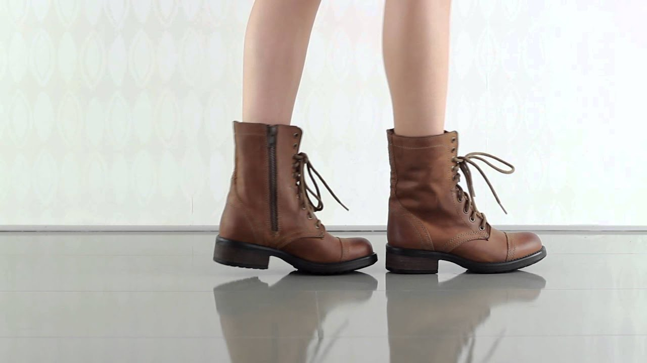 9b229df9317 Troopa 2 0 in Cognac Leather Steve Madden - YouTube