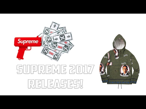 All Supreme 2017 Spring/Summer Releases