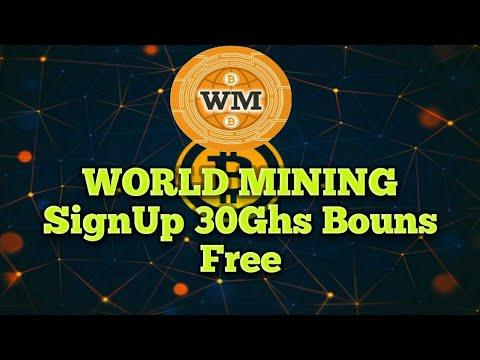 Free SignUp Bouns 30Ghs   World Mining   Really Payout, Bitcoin Payeer Adcash