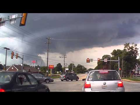 Tornado Warning - Storm Building on Dash Cam - West Chester PA June 2015