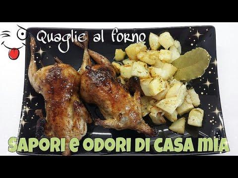 Ricetta del Giorno Quaglie al Forno,Recipe of the Day Baked Quail,Recette du jour au four Quail,