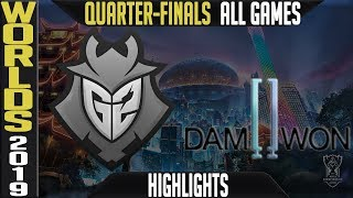 G2 vs DWG Highlights ALL GAMES | Worlds 2019 Quarter-finals | G2 Esports vs Damwon Gaming