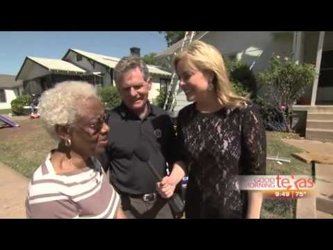 Lon Smith Roofing Builds a Roof for Betty Franklin   wfaa com Dallas   Fort Worth