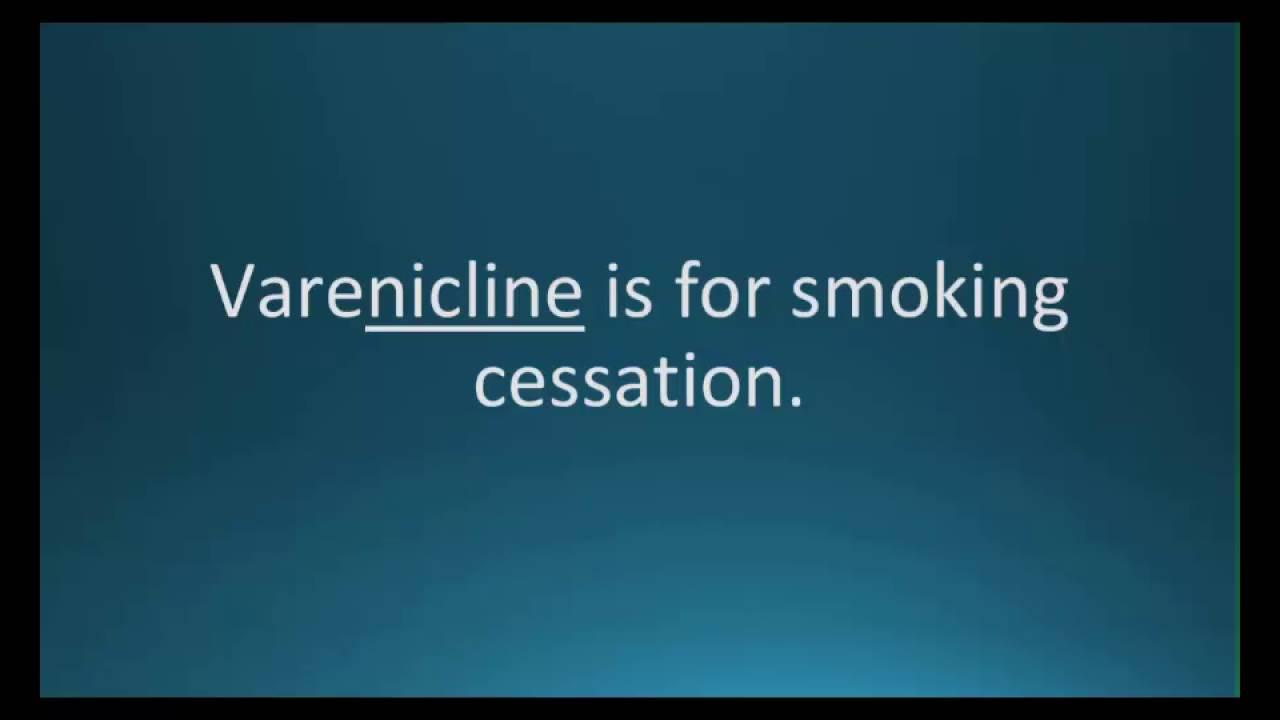 How to pronounce varenicline (Chantix) (Memorizing Pharmacology Video  Flashcard)