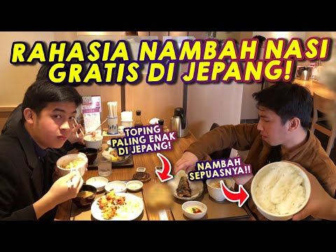 WOW! Makan Teishoku di Jepang, Nasi SEPUASNYA!!   Kuliner Jepang
