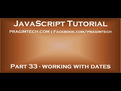 Working With Dates In Javascript