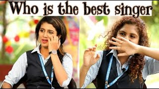 who is the best Singer|| Priya Prakash Varrier VS Noorin|| Oru adaar love|| lovers day