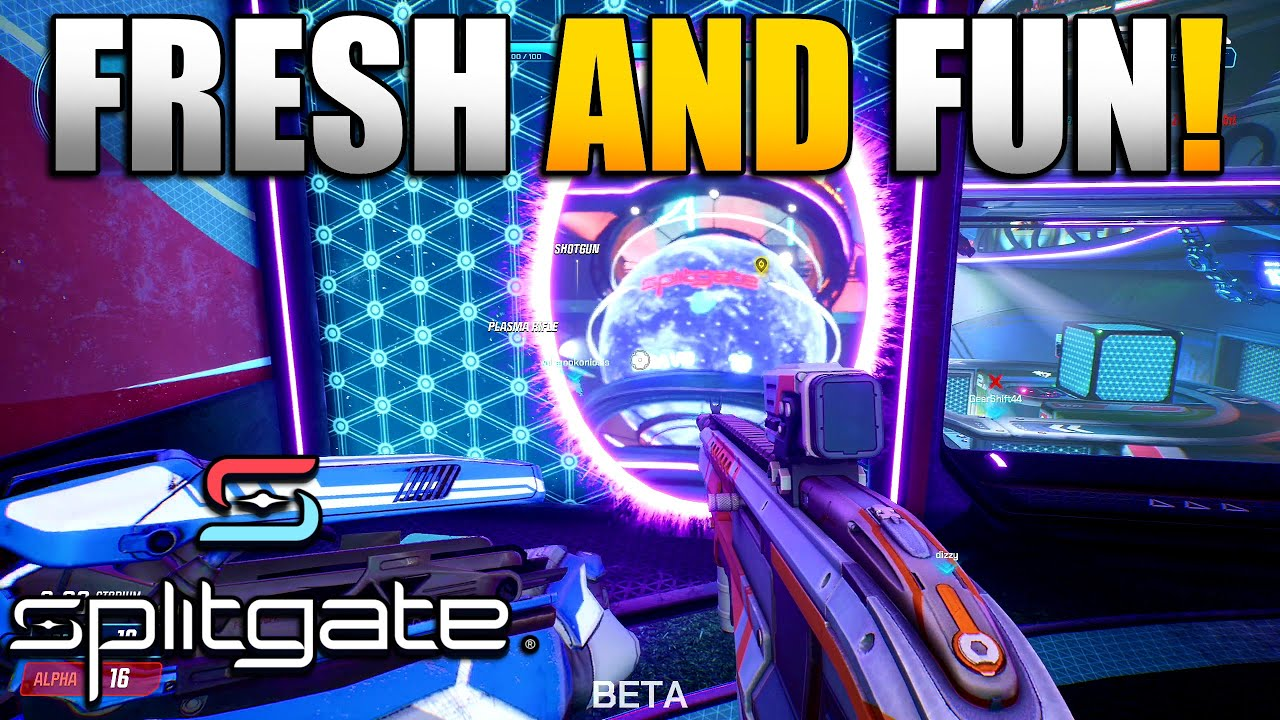 """Splitgate 1st Impressions & Gameplay   New Free to Play """"Halo Meets Portal"""" First Person Shooter"""