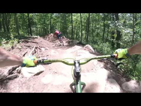 "DTE Energy Foundation Trail ""big kame"" downhill ( I just big kame! )"