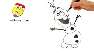 Frozen: Cómo dibujar a Olaf paso a paso | How to draw Olaf