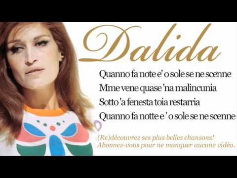 Dalida - O sole mio - Paroles (Lyrics)