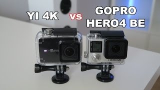 fotos Yi 4K vs GoPro Hero 4 Black