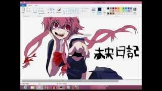 Repeat youtube video Mirai Nikki [ Yuno Gasai] SpeedPaint [ MS Paint]