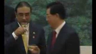 Asif Zardari Drinking Wine Our great Islamic President
