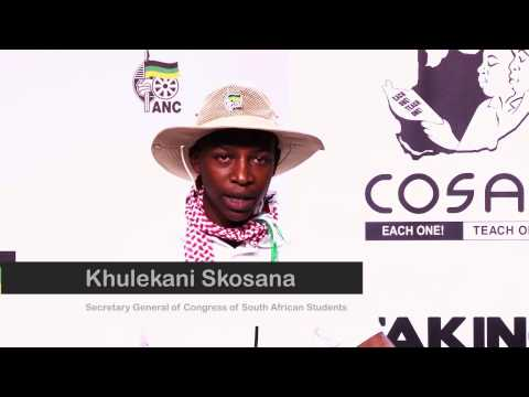 Secretary of COSAS Khulekani Skosana on Palestine