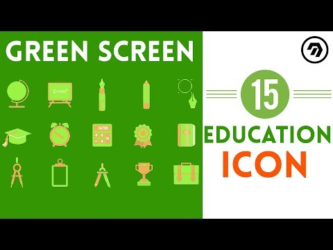 15 Green Screen Education Icon | mrstheboss