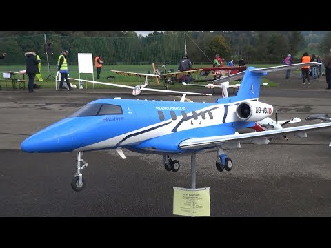 HAUSEN BIGGEST RC EVENT SWITZERLAND NEW PC-24 BUSINESS JET,SR-71 BLACKBIRD AND MANY MORE