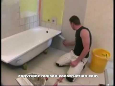 Carrelage Pose Carrelage Habillage Baignoire Tiles Tile Laying Dressing Bath Youtube
