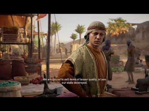 Assassin's Creed: Origins - Ulterior Motive: Meet Merchants in Market, Farm Ambush, False Icons