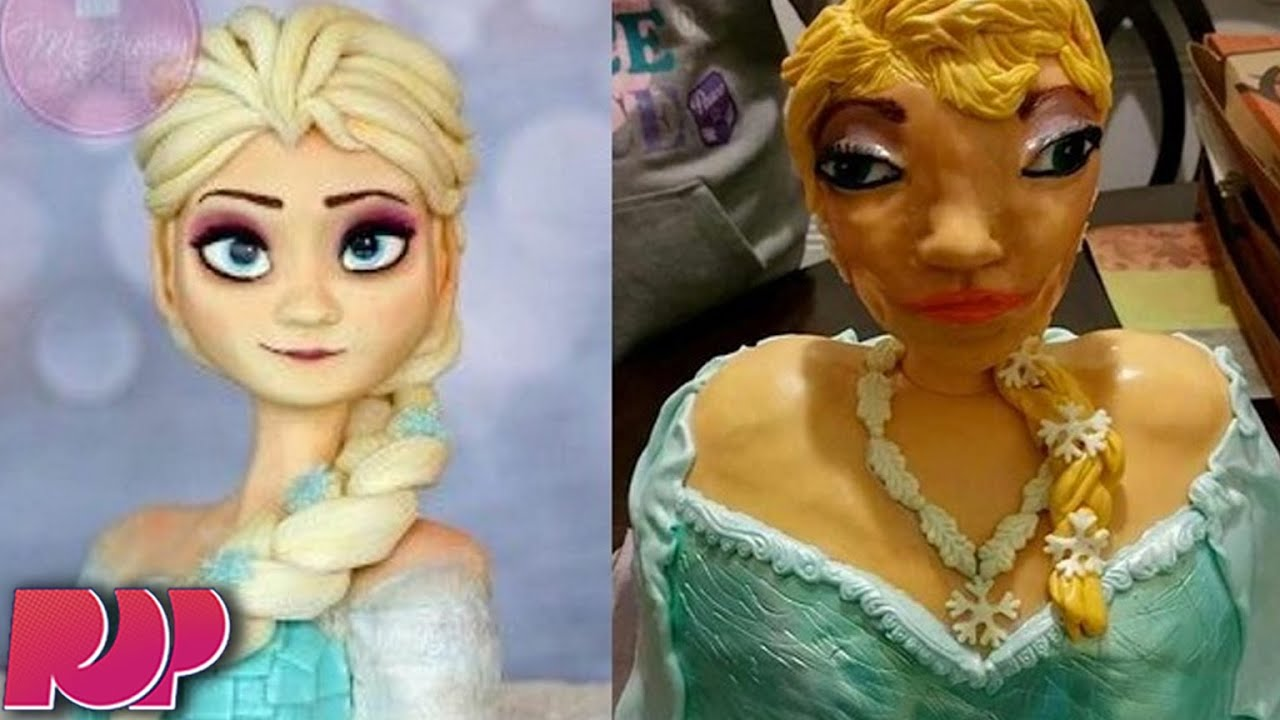 The Truth Behind Ugly Frozen Elsa Cake Will Make You Cry