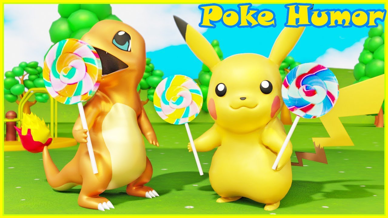POKEMON PIKACHU LOLLIPOP - CANDIES AND FUNNY PARK