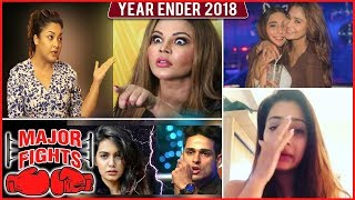 MAJOR FIGHTS of 2018 | Rakhi Sawant, Tanushree Dutta, Karan Patel, Hina Khan , Sara Khan