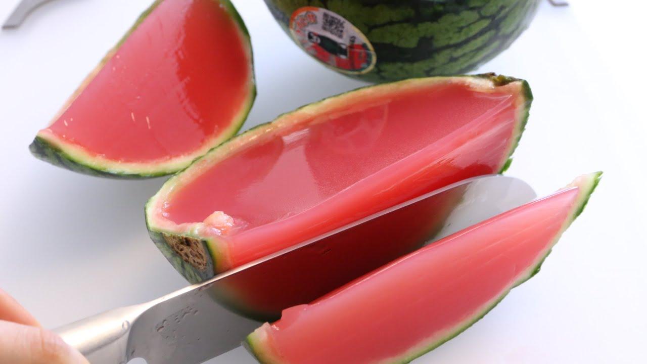 Watermelon Jelly Cake Recipe: Whole Watermelon Jelly 丸ごとスイカゼリー
