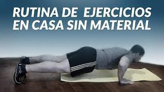 rutina de ejercicios en casa sin material para adelgazar