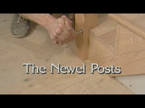 18 Install The Newel Posts. How To Build Stairs