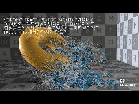 HOUDINI 튜토리얼 - TORUS PEELING EFFECTS (파일첨부)
