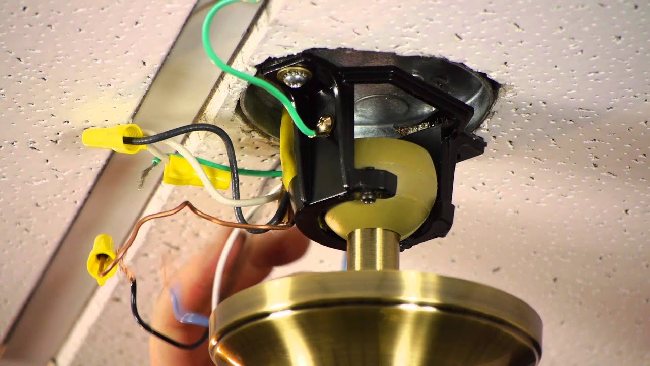 How To Install A Ceiling Fan On Prewired Outlet Wire Diagram Fans Youtube