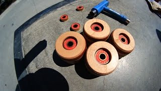 WOODEN SKATEBOARD WHEELS!   YOU MAKE IT WE SKATE IT EP 11 by : Braille Skateboarding