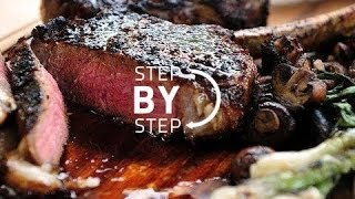 Ribeye Steak Recipe, Ribeye Steak With Red Wine Vinegar Reduction, Ribeye Cast Iron