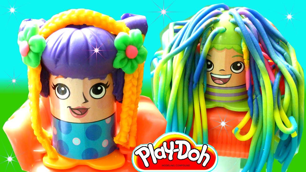 Play-Doh Crazy Cuts Hair Cut Salon Playset - Beautiful Play-Doh Hair Style   Rainbow Collector