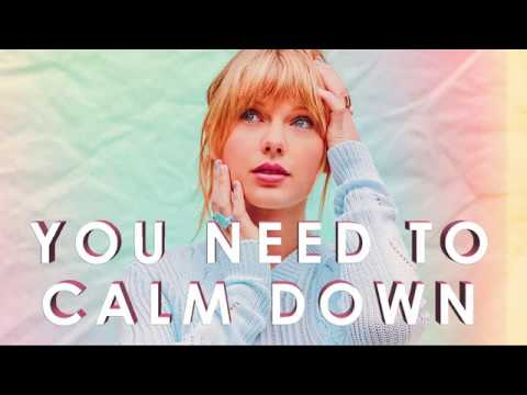 Taylor Swift - You Need To Calm Down Lyric Video (Karaoke/Instrumental/  Stems)