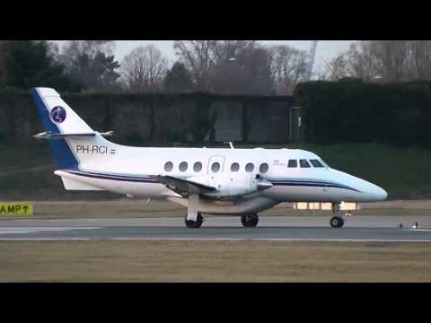 AIS Airlines BAE Jetstream 31 *PH-RCI* evening Takeoff from City Airport Bremen (EDDW/BRE)