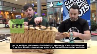 Germany: World's Fastest Pretzel Eaters Compete On Guinness World Record Day
