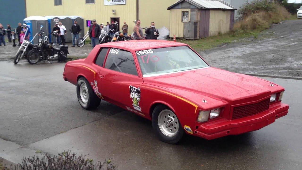 78 Monte Carlo race car burnout. - YouTube