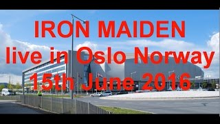 IRON MAIDEN live in Oslo Norway 15th June 2016