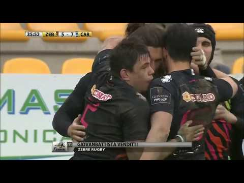 Guinness PRO14 2017 18, Rd 16 ZEBRE RUGBY v Cardiff Blues 7-10 HIGHLIGHTS