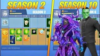 Evolution of Battle Pass Items in Fortnite (Season 2 - Season 10)