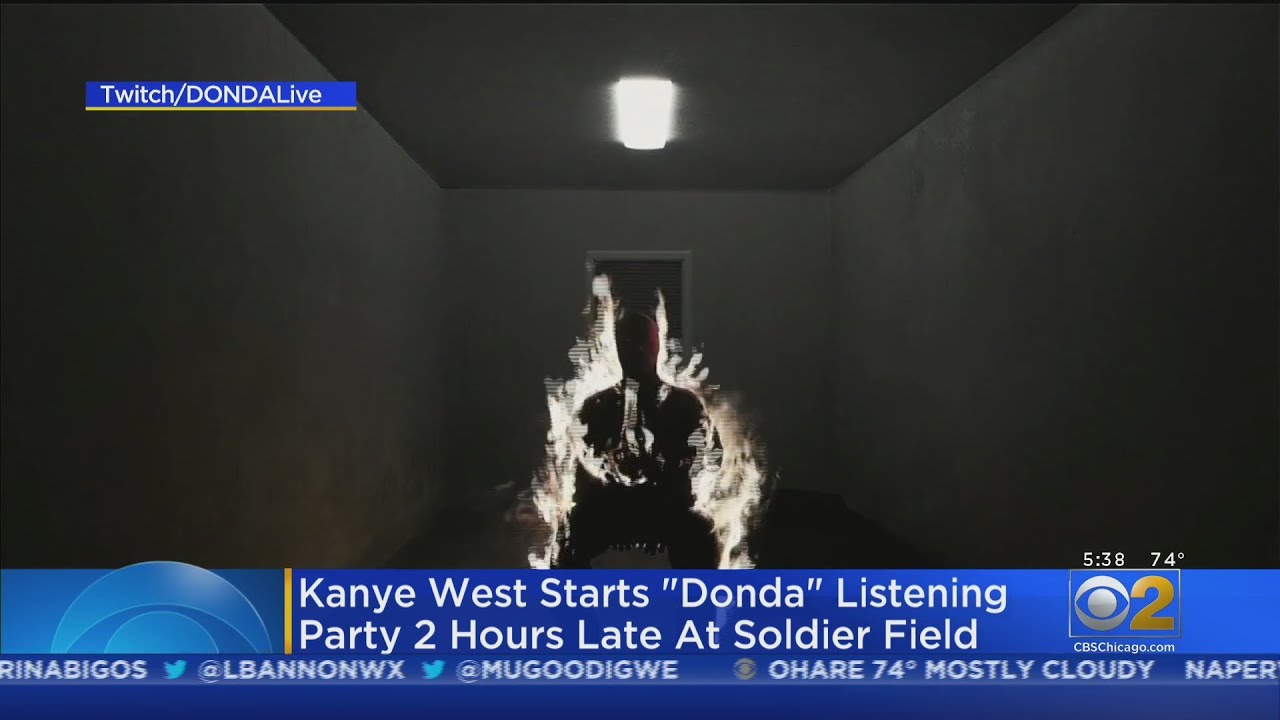Kanye West Starts 'Donda' Listening Party 2 Hours Late At Soldier ...