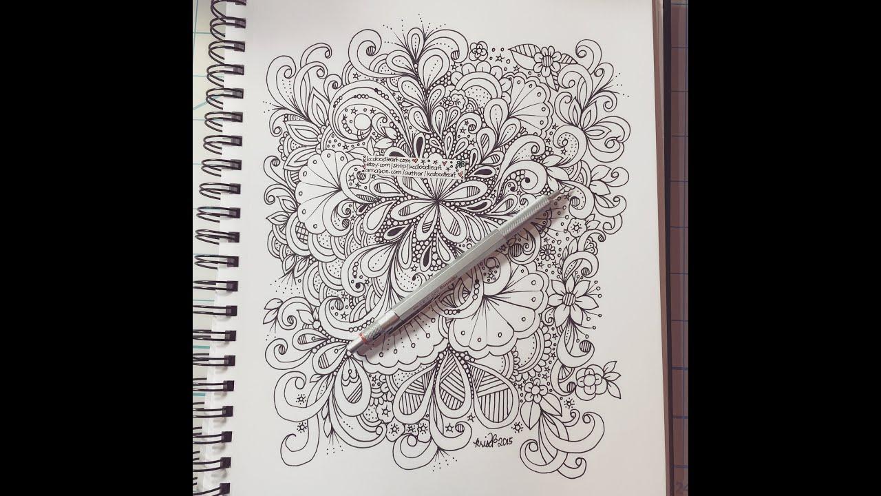 art journal entry slow doodles